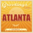 Vintage Atlanta, Georgia poster — Stock Vector