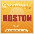 Vintage Boston, Massachusetts poster — Stock Vector