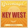 Vintage Key West, Florida poster — Stockvectorbeeld