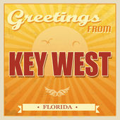 Vintage Key West, Florida poster — Stock Vector