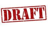 Draft stamp — Stock Vector