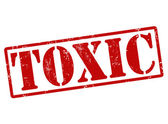 Toxic stamp — Stock Vector