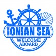 Ionian Sea stamp — Stock Vector