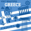 Greece travel poster — Stock Vector
