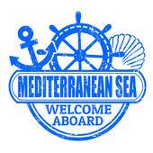 Mediterranean Sea stamp — Stock Vector