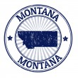 Montana stamp — Stock Vector