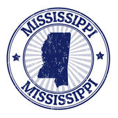 Mississippi stamp — Stock Vector