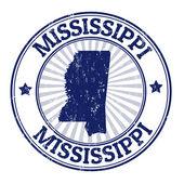 Mississippi stamp — Stock Vector