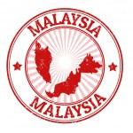 Malaysia stamp — Stock Vector