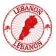 Lebanon stamp — Stock Vector