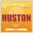 Vintage Huston, Texas poster — Stock Vector