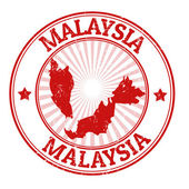 Malaysia stamp — Stock Vector