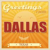 Vintage dallas, affiche au texas — Vecteur