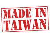 Made in Taiwan stamp — Stock Vector