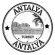 Antalya stamp — Stock Vector
