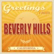Stock Vector: Vintage Beverly Hills, Californiposter