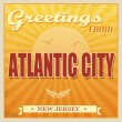 Vintage Atlantic City, New Jersey poster — Stock Vector #32346229