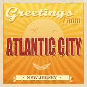 Vintage atlantic city, new jersey affiche — Vecteur