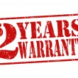 2 Years Warranty stamp — Wektor stockowy #32354303