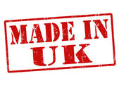 Made in UK stamp — Stock Vector