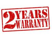 2 jaar garantie stempel — Stockvector
