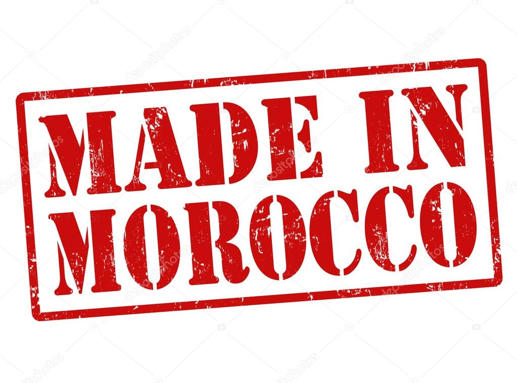 made in morocco stamp stock vector roxanabalint 32353991