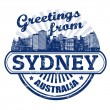 Greetings from Sydney stamp — Stock Vector #32459953