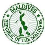 Malediven-stempel — Stockvektor