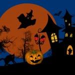 Scary halloween background — Stock Vector #32485197