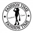 Fashion time stamp — Stock Vector