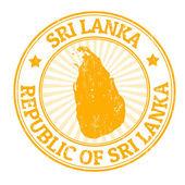 Sri Lanka stamp — Stock Vector
