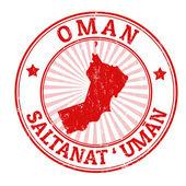 Oman stamp — Stock Vector