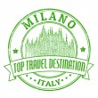 Milano, Italy stamp — Stock Vector