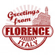 Greetings from Florence stamp — Stock Vector #32617881