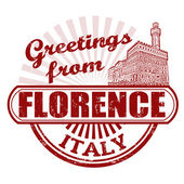 Greetings from Florence stamp — Stock Vector