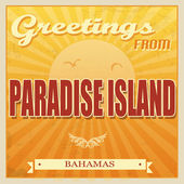 Paradise Island, Bahamas poster — Stock Vector