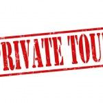 Марка частный тур — Cтоковый вектор