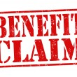 Benefit claim stamp — Vettoriali Stock