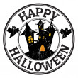 Happy halloween stamp — Stock Vector