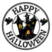 Happy halloween stamp — Vector de stock