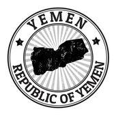 Jemen-stempel — Stockvektor