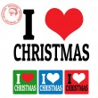 I love Christmas sign and labels — Stock Vector