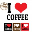 I love Coffee sign and labels — Stock Vector