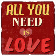All you need is love poster — Stock Vector