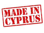 Made in Cyprus stamp — Vettoriale Stock