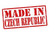 Hecho en república checa sello — Vector de stock