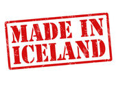 Made in Iceland stamp — Vettoriale Stock