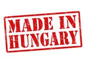 Hecho en sello de hungría — Vector de stock