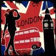 London retro poster — Stock Vector #32768637