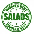 Stock Vector: Salads stamp